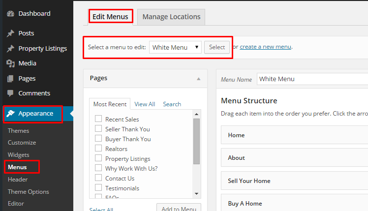how to create a custom menu in wordpress 2