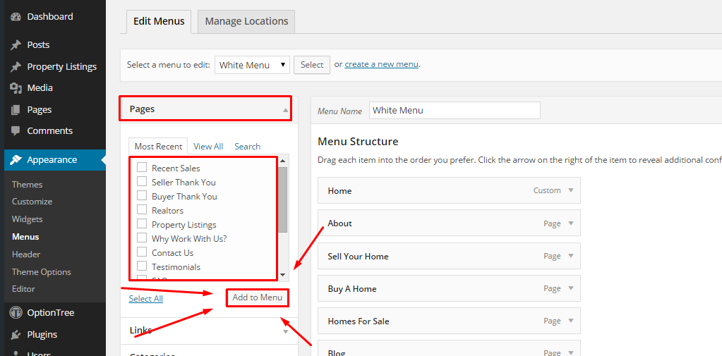 how to create a custom menu in wordpress 3